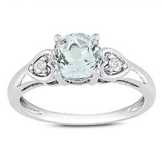 10k White Gold 1 1/4 CT TGW White Topaz 0.06 CT TDW Diamond Engagement Ring (G-H, I2-I3) Amour. $224.99