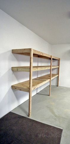 Ana White Build a Easy and Fast DIY Garage or Basement Shelving for Tote Storage Free and Easy DIY Project and Furniture Plans Diy Storage Shelves, Tote Storage, Storage Cabinets, Diy Storage Room, Easy Shelves, Build Shelves, Shop Cabinets, Shop Storage, Diy Wall Shelves