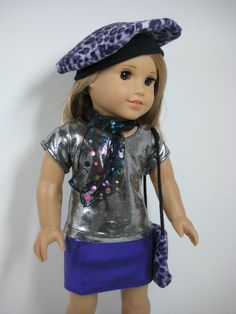 18 Inch Doll Clothes American Girl Purple and by nayasdesigns, $30.00