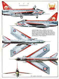 """English Electric Lightning F Mk 1a 56sqn RAF """"Firebirds"""""""