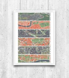 plakaty-Six cities - plany miast, plakat City, Frame, Home Decor, Poster, Picture Frame, Decoration Home, Room Decor, Cities, Frames