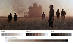 A website featuring stills from films and their corresponding color palettes.  A tool to promote learning and inspiration.