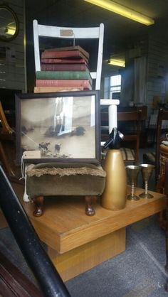 My current display at Emmaus leyland Charity Shop Display Ideas, I Can Do Anything, Volunteer Work, Shelves, Retro, Furniture, Home Decor, Shelving, Decoration Home