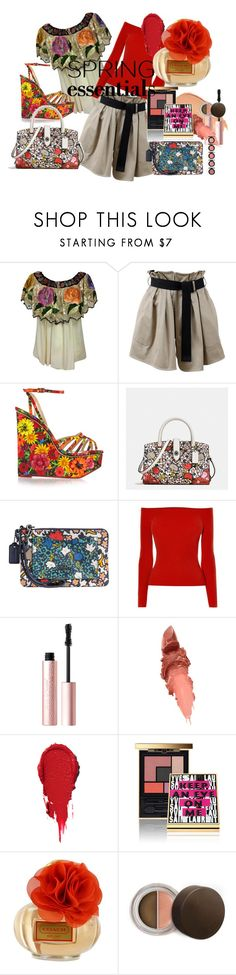 """""""IN BLOOM: SPRING PERFUME"""" by kareng-357 ❤ liked on Polyvore featuring rag & bone, Charlotte Olympia, Coach, Karen Millen, Lumene, Too Faced Cosmetics, Maybelline, Yves Saint Laurent and Becca"""
