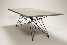 Entwine Table / Concrete Table with Steel Base by Hard Goods
