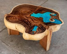 Resin Coffee table with glowing resin made of exotic suar wood image 0 Wood Resin Table, Epoxy Resin Wood, Wood Table, Resin Art, Dining Table, Table Bench, Resin Crafts, Wood Crafts, Furniture
