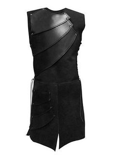 Historic military inspired archer's leather armored mens top.  Great inspiration for a period costume or cosplay.