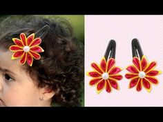 How to Make Cute DIY Satin Flower Hair Clips, Easy Hair Accessories for Girls, Kanzashi. Please watch: Pyramid Shaped Cardboard Organiser, Easy Best Out of Waste Cardboard Craft, StylEnrich . Diy Quilling Crafts, Paper Quilling, Flower Hair Clips, Flowers In Hair, Easy Fathers Day Craft, Satin Ribbon Flowers, Yarn Store, Cute Diys, Girls Hair Accessories
