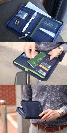 Travel with confidence knowing that everything you need is right in your hand! This quality travel wallet has pockets for your passport as well as your ID card, business cards, credit cards, and more! Fit larger items such as your cash, tickets, boarding pass, or maps in the large open pocket and zip it all up tight. You can travel safe, light, and secure with the classic Travel Wallet!