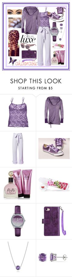 """""""Casual Luxe"""" by snowflakeunique ❤ liked on Polyvore featuring Cosabella, prAna, Puma, Blossom, GUESS, Tacori, Allurez and NOVICA"""