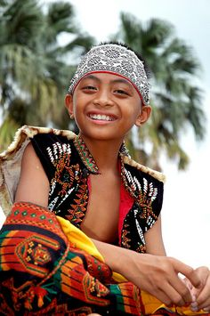 A Paiwan boy; the Paiwan are an aboriginal tribe of Taiwan. They number less than 100,000, and have their own sub-language and group division.