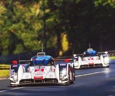 #2 Audi R18 e-tron quattro driven by André Lotterer, Marcel Fässler & Benoît Tréluyer wins the 201424 Hours of Le Mans and gives Audi an overall 1-2 finish