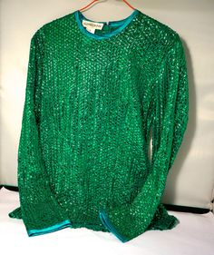 XMAS SEQUINNED TOP...designer Alfred Sung size by blingblingfling  Clothing   GotVintage e04f7a850