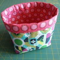 There's a number of tutorials out there for fabric baskets, but I found often…