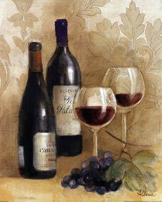 Damask Wine II by Albena Hristova art print