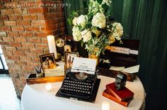 Our telegram guestbook cards set up at a beautiful wedding #wedding #guestbook #telegram #vintage  Shot by Sean Gallery Photography
