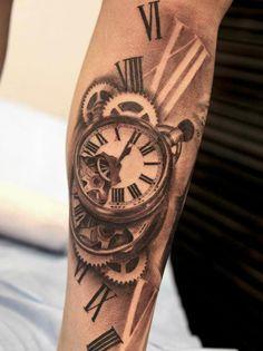 tatuaje reloj 3d                                                                                                                                                      Más