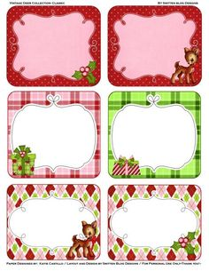 Etiquetas - Classic christmas party kit Includes 6 gift tags, 2 bag toppers, 1 party banner, and a sheet of 2 notecards. Christmas Tags Printable, Holiday Gift Tags, Gift Tags Printable, Noel Christmas, Christmas Gift Tags, Christmas Images, All Things Christmas, Holiday Crafts, Christmas Nativity