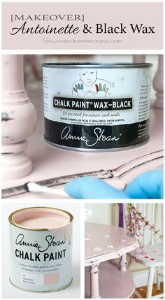 Annie Sloan 'Antoinette' and Black Wax Makeover Annie Sloan Chalk Paint Antoinette, Annie Sloan Wax, Annie Sloan Painted Furniture, Annie Sloan Paints, Chalk Paint Furniture, Furniture Refinishing, Chalk Paint Wax, Chalk Paint Colors, Chalk Paint Projects