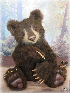 Купить Авторский медведь Тедди - коричневый, серый волк, мария стригун, мишки тедди, мишки