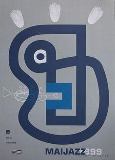 Jazz festival poster - Lasse Skarbovik