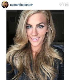 Samantha Ponder, pretty hair color. She is a sportscaster (formerly Samantha Steele) who married former Vikings quarterback Christian Ponder (now with the Oakland Raiders).
