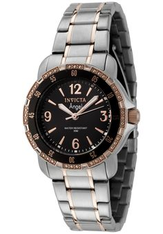 Price:$99.99 #watches Invicta 0549, This classic women's timepiece provides a dressy look with its two tone stainless steel bracelet.