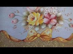 Pintura em Tecido. Aprenda Pintar Rosa Amarela, Hibisco Vermelho e Folhas - YouTube
