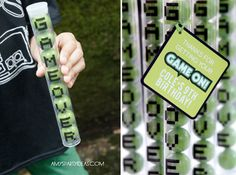 "Gumball tubes with stickers that says ""GAME OVER"" as a gamer party favor. #partyfavors #gamers #birthday"