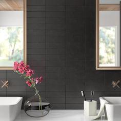 62 ideas for kitchen interior details subway tiles Black Tile Bathrooms, Ceramic Tile Bathrooms, Ceramic Subway Tile, Condo Bathroom, Concrete Bathroom, Luxury Bathrooms, Master Bathrooms, Dream Bathrooms, Bathroom Faucets