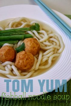 10 Minute Tom Yum Fish Ball Noodle Soup. This delicious Asian soup is a perfect starter or easily bulk it up for a filling main.