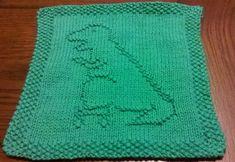 Ravelry: Roller Skating T-Rex Dishcloth pattern by Brett Myers Owl Knitting Pattern, Knitted Dishcloth Patterns Free, Animal Knitting Patterns, Knitted Washcloths, Crochet Dishcloths, Free Knitting, Knit Patterns, Block Patterns, Knitting Blocking