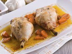 Receta para niños de muslos de pollo en salsa