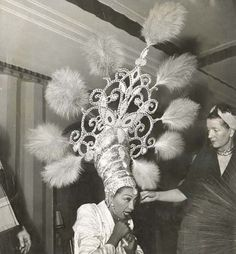 forgottenantiquities: Josephine Baker getting ready to perform, Josephine Baker, Fred And Ginger, Harlem Renaissance, My Black Is Beautiful, Showgirls, Famous Faces, Headdress, Old Hollywood, Black History