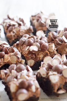Double Malt Brownies on Taste and Tell