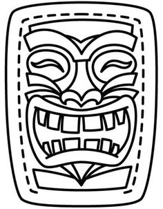 Tiki Mask Printable Coloring Pages Coloring Pages