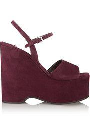 Miu MiuSuede platform sandals