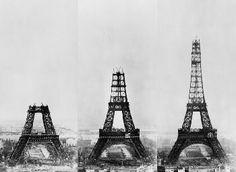 La tour Eiffel sa construction et Gustave Eiffel Gustave Eiffel, Torre Eiffel Paris, Paris Eiffel Tower, Old Pictures, Old Photos, Budapest, Glass Pavilion, Exhibition Building, Fotografia Macro