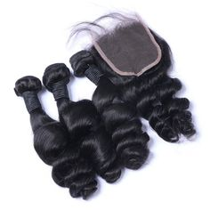 Sets 3 1 Loose Wave With 4×4 Closure Indian Hair Extension [VLW01]
