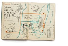 One City, Five Hours: Miami | Oliver Jeffers Projects - Cartography