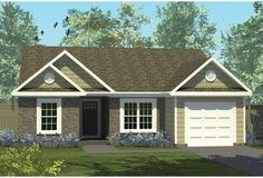 Southern House Plan – 3 Bedrooms, 2 Bath, 1151 Sq Ft Plan – Famous Last Words House Plans 3 Bedroom, Cottage Style House Plans, French Country House Plans, Southern House Plans, Narrow Lot House Plans, Small House Floor Plans, Lake House Plans, Best House Plans, 1500 Sq Ft House