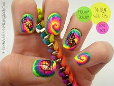 Diy tie dye nails hippie rasta watercolor nail art design nailpolis museum of nail art tie dye nail art by b prinsesfo Choice Image
