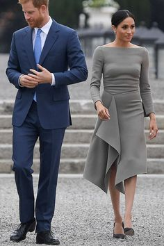 Meghan Markle Is Bringing Back *This* Neckline and Were So Into It #purewow #royalfamily #style #meghanmarkle #fashion #outfitideas #meghanmarklefashion #meghanmarkleoutfits #dresses #royals #boatneck #bateaunecklines...love love love this dress!!!