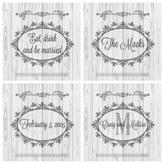 Customized wedding or bridal shower gift for the bride and groom. $20 for the 4 pack of handmade coasters.   https://www.etsy.com/listing/460253510/custom-wedding-coasters-handmade4-pack?ref=shop_home_active_1