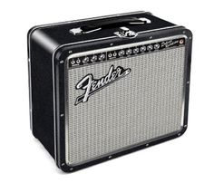 Fender Amp Tin Lunch Box by Aquarius. You'll want to put food, snacks, picks, strings, whatever fits into this mini replica of the Fender Deluxe Reverb Amp. It measures x Retro Lunch Boxes, Tin Lunch Boxes, Metal Lunch Box, Tin Boxes, Lunch Bags, Cool Mom Picks, Musician Gifts, Metal Tins, Founding Fathers