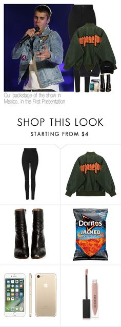 """Our backstage of the show in Mexico, in the First Presentation"" by kylizie ❤ liked on Polyvore featuring Topshop, Vetements, Burberry, life, JustinBieber and PurposeTour"