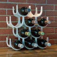 Modular Wine Rack Holder For 10 Bottles Plastic Opaque