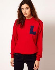Enlarge Johann Earl Printed Letterman Sweatshirt