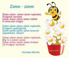 🐝 Mesés zümm-zümm vers Mézikéről a dolgos kis méhecskék egyik tagjáról :). #anyamesélj #hermannmarika #mesés #vers #gyerekeknek #méhecske… Character, Instagram, Google, Lettering