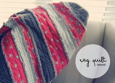 """This weekend I did a little quilting project. It was super easy to do and can absolutely be done by the """"beginner"""" seamstress. It is a flannel rag quilt made from strips of fabric instead of your typical squares.... and it's sooo soft! The most time consuming part is cutting all of t"""